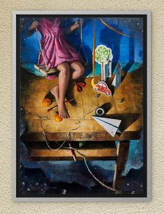 Swinging free in Dreamland. Oil on canvas. Oil On Canvas, Canvas Art, Childhood Memories, Paintings, The Originals, Handmade Gifts, Artist, Free, Vintage