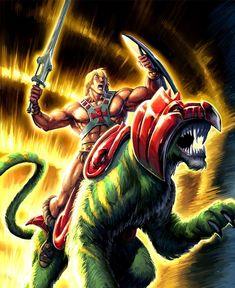 heman 40 Spectacular Digital Paintings And Illustrations Of Super Hero's Thundercats, He Man Tattoo, Gi Joe, Old School Cartoons, Cartoon Toys, Cartoon Faces, Cartoon Art, Cartoon Photo, Saturday Morning Cartoons