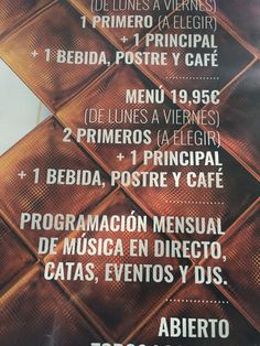 Este es el mas caro menú del día que encontré durante de la ruta gastronómica en Alicante. Es de Eolo Restaurante Castro pero no creo que es demasiado caro porque incluye mucha comida, bebidas, y la postre. El menú del día es normalmente una manera barata para comer.