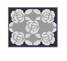 Ravelry: Filet Crochet Roses Doily pattern by StitchMeKnot                                                                                                                                                                                 More