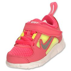 Girls' Toddler Nike Dual Fusion Run Running Shoes | FinishLine.com | Pink/Silver/Green