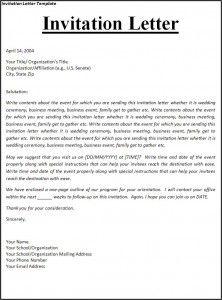 invitation letter template sample of