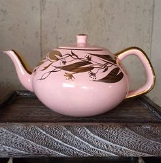 Vintage Tea Pot Arthur Wood 4735 1950 Pink by TheGreenPaintedClock