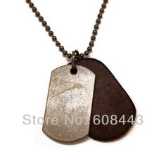 NB003 Vintage Antique Silver Blank Dog Tag 5.5cm*4cm Pendants Genuine Leather Ball Chain Necklace For Men Boy Gift for him-in Pendant Necklaces from Jewelry on Aliexpress.com | Alibaba Group