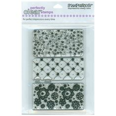 """Pattern Trio Stampendous Perfectly Clear Stamps 4""""X6"""" Sheet 4X6-SSC-090 - Stamps"""