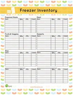 Do you forget whats hidden in your freezer? Get your freezer fresh with these handy free printables for freezer inventory and storage labels. Freezer Organization, Household Organization, Life Organization, Freezer Storage, Food Storage, Freezer Inventory Printable, Home Management Binder, Menu Planners, Planner Pages