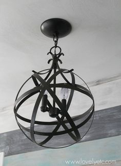 You can turn any outdated light in your house into a gorgeous orb chandelier in less than an hour for only $20. Huge money saver!