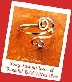 Beautiful 12/20 Gold Filled Swirl by LizsDivineCreations on Etsy