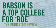 Babson Named one of the Top Colleges for Return on Education