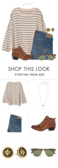 """We're snuggled up together like to birds of a feather would be"" by flroasburn on Polyvore featuring MANGO, Kendra Scott, Abercrombie & Fitch, Lucky Brand, Tory Burch and Ray-Ban"