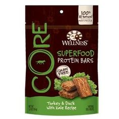 Wellness CORE Superfood Protein Bars Natural Grain Free Dog Treats, Turkey