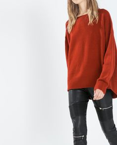 OVERSIZE CASHMERE JUMPER from Zara £129 - great colour, also in cream and navy.