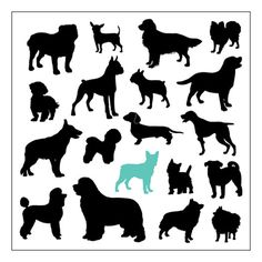 Dog silhouettes that can go on anything Animal Silhouette, Silhouette Art, Animal Art Projects, Drawing Clipart, Origami Paper Art, Cricut Creations, Cat Drawing, Dog Art, Images