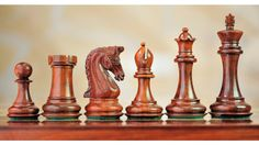 "Triple Weight 4Q Staunton Bud Rose Wood Chess Set 4.33"". http://www.chessbazaar.com/chess-pieces/mid-range-chess-pieces/triple-weight-4q-staunton-bud-rose-wood-chess-set-4-33.html"