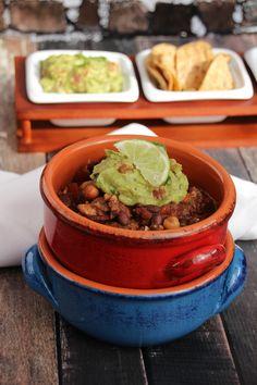 Best Vegan Chili with Guacamole // Sweet Talk