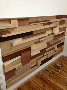 Build a stack wood wall from off cuts and left over timbers using timber flooring, decking, f17, oregon, American Oak, Pine, Treated Pine, Merbau, sydney blugum, stringybark, spotted gum, ironbark, tallowwood, blackbutt, cambia, jarrah, Karri,
