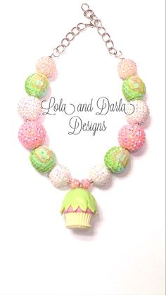 Birthday girl necklace birthday necklace chunky necklace bubblegum necklace girls necklace cupcake necklace  via Etsy