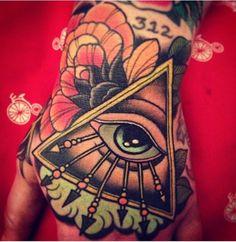 All Seeing Eye Hand tattoo
