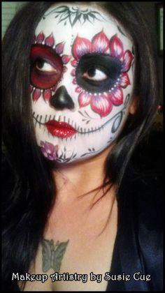 Makeup, #Day of the Dead, dia de los muertos, face paint