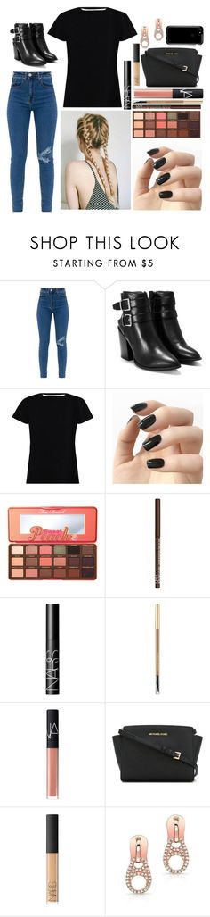 """""""Bailey: October 3, 2017"""" by disneyfreaks39 ❤ liked on Polyvore featuring Nasty Gal, Zimmermann, Incoco, Too Faced Cosmetics, NYX, NARS Cosmetics, Lancôme, MICHAEL Michael Kors and Speck"""