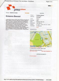 2008 Pressrelease quotidiano di cultura contemporanea
