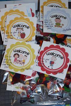 Teacher Gone Crafty: Welcome to Kindergarten Gift Welcome To Preschool, Welcome To Kindergarten, Kindergarten Gifts, Kindergarten Classroom, Classroom Ideas, Back To School Night, Welcome Back To School, Back To School Gifts, School Fun
