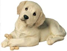 labrador retriever gifts | Labrador Retriever Figurine Sculpture (Puppy, Yellow) SANDICAST