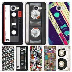 Old Cassette Hard White Coque Shell Case Cover Phone Cases for Samsung Galaxy A3 A5 A7 2016 2017 A8 A9