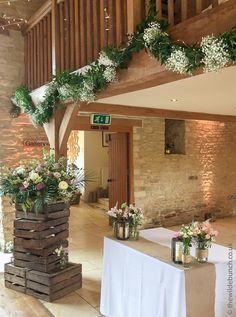 Wedding Ceremony flowers at Kingscote Barn by top Bristol wedding florists, The Wilde Bunch Barn Wedding Flowers, Kingscote Barn, Florists, Bristol, Got Married, Countryside, Knight, Pergola, Outdoor Structures