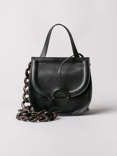 Small, yet versatile Aiko bag designed for day to night use. Made from selected high-quality leather and decorated with ring detail. Aiko, Carry On, Fashion Backpack, Backpacks, Shoulder Bag, Jade, Leather, Stuff To Buy, Collection