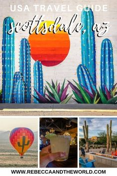 A weekend in Scottsdale, Arizona means the great outdoors, culinary delights, pampering and relaxation, and arts and culture. Here's everything you need to know before you visit Scottsdale and what to put on your Scottsdale itinerary! Scottsdale Resorts, Scottsdale Arizona, Travel Advice, Travel Guide, Travel Ideas, Dry Desert, Air Balloon Rides, Us Destinations, Weekend Getaways