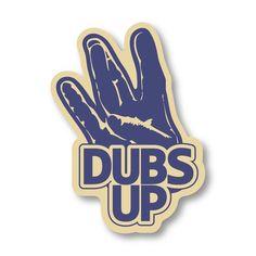 DUBS UP - WA Huskies sticker  stickersnorthwest.com