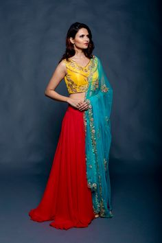 Beautiful amalgamation of contrast colors from AO by Anita Ojha