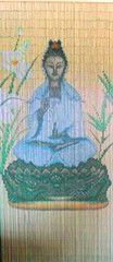 'Buddha Godess' Bamboo Curtain