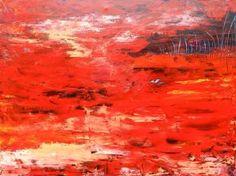 "Saatchi Art Artist Helene Hardy; Painting, ""Red Centre"" #art"