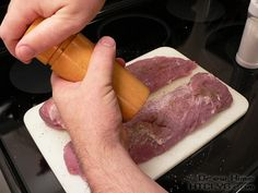 Pork tenderloin is great for roasting or grilling but sometimes you want to be able to turn it on and just walk away 'til it's done. Time to grab the crock pot. Slow Cooker Recipes, Cooking Recipes, Cabbage Rolls Recipe, Carrots And Potatoes, Crockpot Dishes, All Vegetables, Cheese Cloth, Pork, Stuffed Peppers