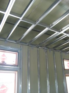 Exterior Walls - Make It RightMake It Right Steel Frame House, Steel House, Steel Wall, Building A Container Home, Container House Plans, Steel Building Homes, Building A House, Metal Stud Framing, Structural Insulated Panels