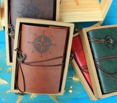 2014 Vintage Leather Travel Journal Notebook Classic Spiral Ring Binder Diary Book Anchor Rudder Decoration Notebook 870058