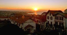 Le village au coucher de soleil de #Bidart in south western France ©OT Bidart