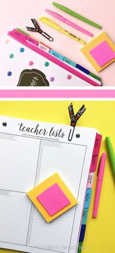 Lesson Planner for A Modern Teacher Printed and Bound for you!:: Purposeful Planning! $