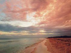 Imagen de beach, sky, and sunset