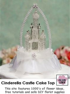Blown Glass Fairy Tale Themed Castle Cake Topper $50.95 (Subject to availability)