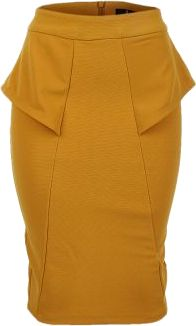 Yellow Peplum Skirt | Sleek Divas