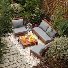 Salon jardin 2 places Résine tressée noire : Table carrée 80cm + 2 ...