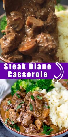 Steak Diane Casserole Pep up that stewing steak with this AMAZING Steak Diane Casserole. Delicious c Beef Steak Recipes, Stew Meat Recipes, Beef Recipes For Dinner, Slow Cooker Recipes, Crockpot Recipes, Chicken Recipes, Pepper Steak Recipes, Steak Pieces Recipes, Recipes With Beef Cubes