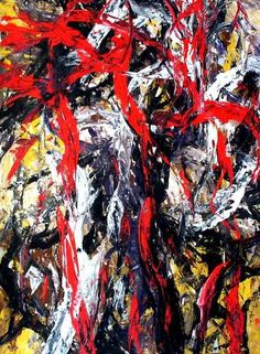 Oleg Frolov - Abstract Painting OF-A80. Acrylic paint, paper. Year: 2006 Width   61 cm (24 in)  Height   83 cm (33 in)