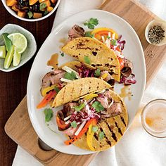 Flank Steak Tacos with Slaw | CookingLight.com #myplate, #protein, #veggies