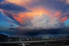 Giant clouds over Beijing. | Craziest Things In Nature You Won't Believe Actually Exist
