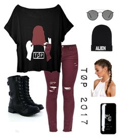 """""""TØP"""" by dyinginside24 on Polyvore featuring Ray-Ban and Nicopanda"""