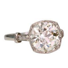 Old European Cut Diamond Engagement Ring at 1stdibs